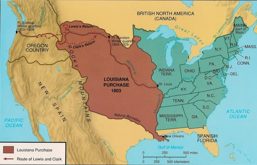 Map Of Louisiana Territory.1803 Louisiana Purchase